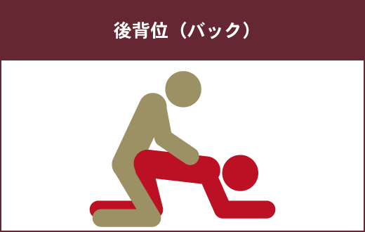 後背位(バック)は、女性が二番目に苦手とする体位です。