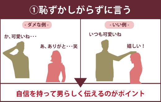 【女性への言葉責め前に知っておきたい5つの注意点】①恥ずかしがらずに言う ▶自信を持って男らしく伝えるのがポイント