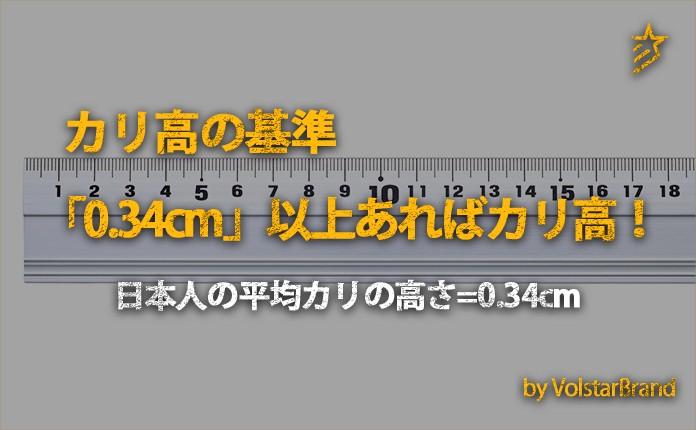 カリ高は、日本人の平均ペニスサイズを参考にしよう。