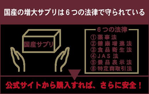 ペニス増大サプリは、公式サイトから購入するのが一番安全です